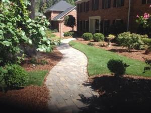 Stone paver path / walkway